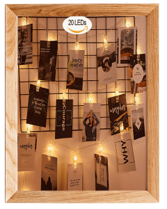 20 Led Photos Clips String Lights 10ft Warm White
